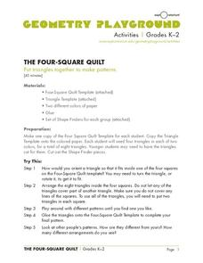 The Four-Square Quilt Activities & Project