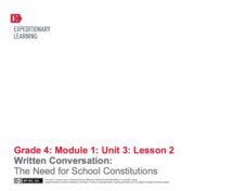 Written Conversation: The Need for School Constitutions Lesson Plan