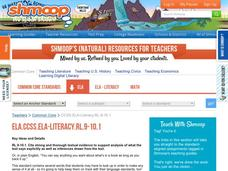 ELA.CCSS.ELA-Literacy.RL.9-10.1 Activities & Project