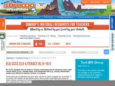 ELA.CCSS.ELA-Literacy.RL.9-10.5 Activities & Project
