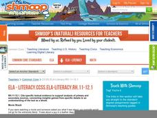 ELA - Literacy.CCSS.ELA-Literacy.RH.11-12.1 Activities & Project