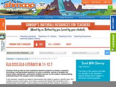 ELA.CCSS.ELA-Literacy.W.11-12.7 Activities & Project