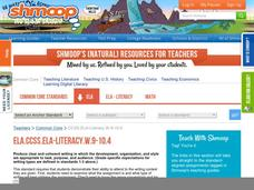 ELA.CCSS.ELA-Literacy.W.9-10.4 Activities & Project