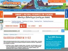 ELA.CCSS.ELA-Literacy.W.11-12.2 Activities & Project