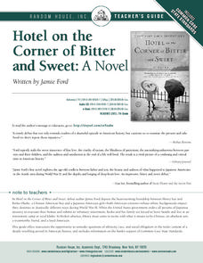 Hotel on the Corner of Bitter and Sweet: A Novel Lesson Plan