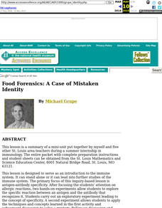 Food Forensics: A Case of Mistaken Identity Lesson Plan