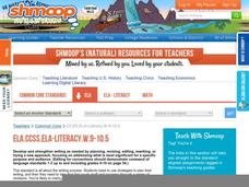 ELA.CCSS.ELA-Literacy.W.9-10.5 Activities & Project