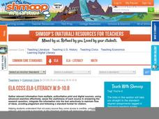 ELA.CCSS.ELA-Literacy.W.9-10.8 Activities & Project