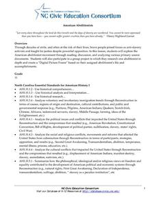 American Abolitionists Lesson Plan