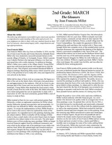 The Gleaners by Jean Francois Millet Lesson Plan