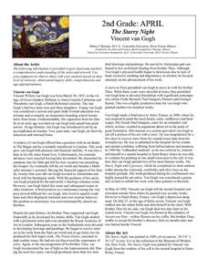 The Starry Night by Vincent van Gogh Lesson Plan