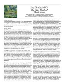 The Water Lily Pond by Claude Monet Lesson Plan