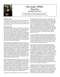 Mona Lisa by Leonardo da Vinci Lesson Plan