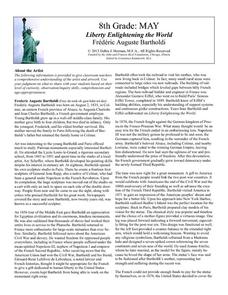 Liberty Enlightening the World by Frédéric Auguste Bartholdi Lesson Plan