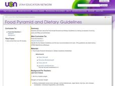 Food Pyramid and Dietary Guidelines Lesson Plan