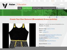 Create Your Own Samurai (Breastplate) Armor Lesson Plan