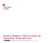 Illustrating: Geography Icon Lesson Plan