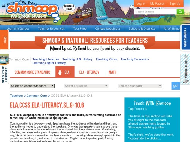 ELA.CCSS.ELA-Literacy.SL.9-10.6 Activities & Project
