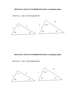 Closure Problems G.SRT.3 Worksheet for 9th - 11th Grade | Lesson Planet