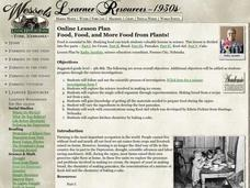 Food, Food, and More Food from Plants! Lesson Plan