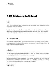 Distance to School Activities & Project