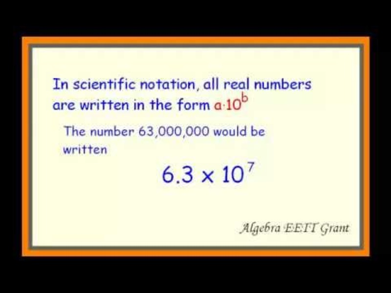 Scientific Notation -- Multiplication and Division Video