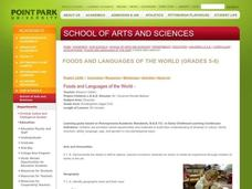 Foods and Languages of the World Lesson Plan