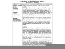 Odyssey of the Mind Curriculum Activity: Extend-sive Thinking Lesson Plan