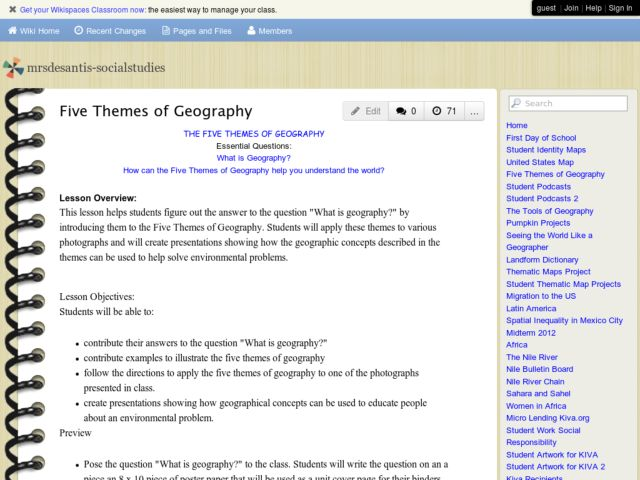 Introduction to the Five Themes of Geography Lesson Plan