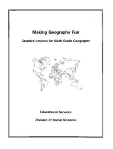 Five Themes of Geography Packet Lesson Plan for 6th Grade