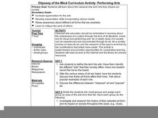 Odyssey of the Mind Curriculum Activity: Performing Arts Lesson Plan