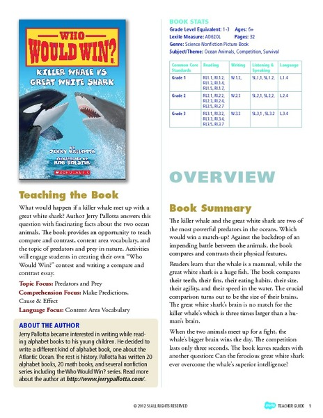Who Would Win? Killer Whale vs  Great White Shark Storia