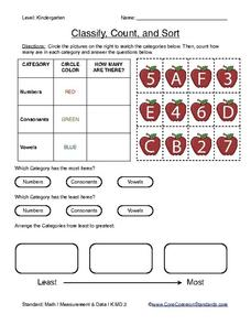 Classify, Count, and Sort Worksheet