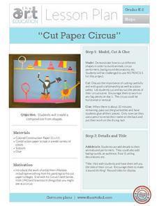 Cut Paper Circus Activities & Project