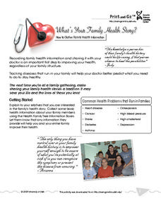 What's Your Family Health Story? Activities & Project