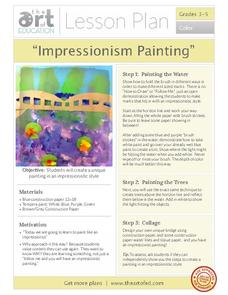 """Impressionism Painting"" Activities & Project"