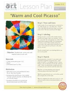 """Warm and Cool Picasso"" Activities & Project"