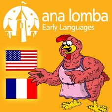 Ana Lomba's French for Kids: The Red Hen (Bilingual French-English Story) App