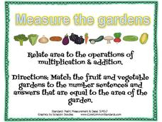 Measure the Gardens Activities & Project