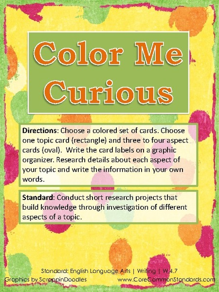 Color Me Curious Activities & Project
