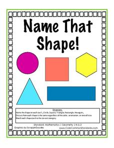 Name That Shape Activities & Project