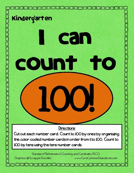 I Can Count to 100! Activities & Project