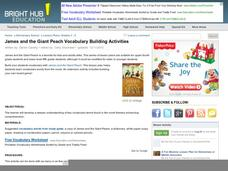 James and The Giant Peach Vocabulary Building Activities Activities & Project