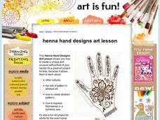 Henna Hand Designs Art Lesson: Make a Unique Self-Portrait Activities & Project