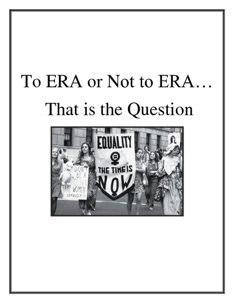 To ERA or not to ERA, That is the Question Lesson Plan