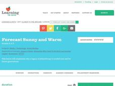 Forecast Sunny and Warm Lesson Plan