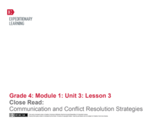 Close Read: Communication and Conflict Resolution Strategies Lesson Plan