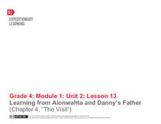"Learning from Aionwahta and Danny's Father (Chapter 4, ""The Visit"") Lesson Plan"