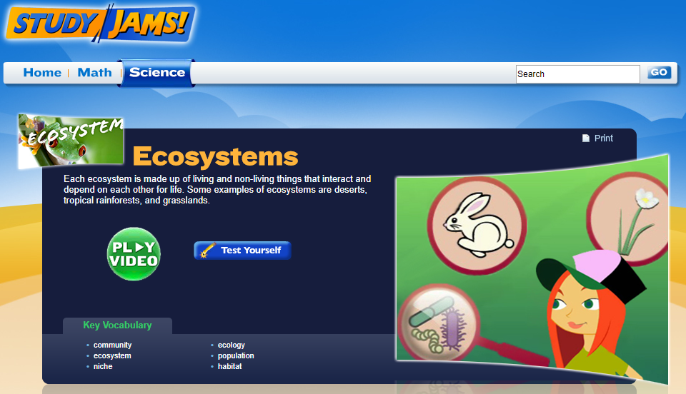 Study Jams! Ecosystems Interactive for 5th - 8th Grade ...