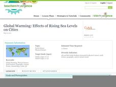Global Warming: Effects of Rising Sea Levels on Cities Lesson Plan
